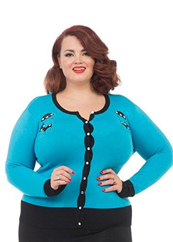 Voodoo Vixen – Clarissa Blue Spring Kitten Cardigan Plus Size  - See more at: http://45.gs/rpa5