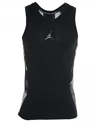 88359c9a8a7a74 Nike Jordan Stay Cool Compression VII Mens 683134-010 Black Tank Top Size L
