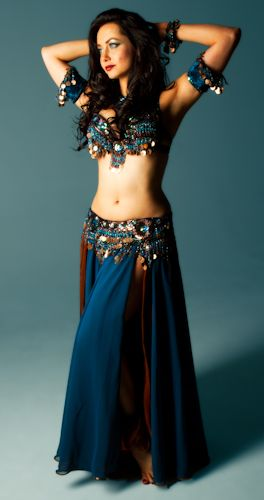 339b16b192 teal copper coin bella belly dance bellydance costume