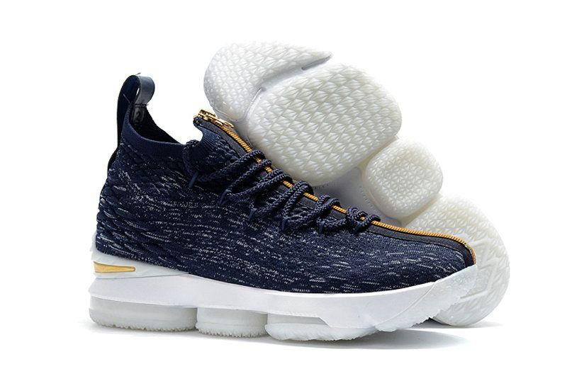 faeeb573974 How To Buy Basketball Shoe LBJ XV Nike LeBron 15 KITH x dark-blue golden