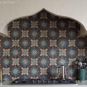 moroccan tile backsplash mediterranean