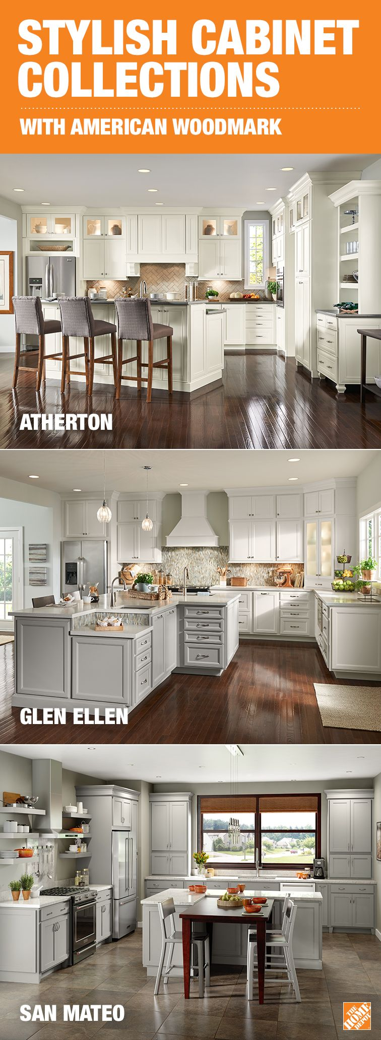 Durable cabinets three smart collections american woodmark