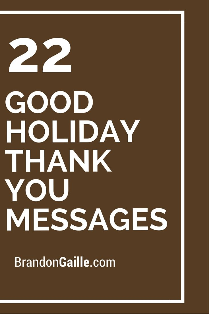 22 good holiday thank you messages messages holidays and card 22 good holiday thank you messages kristyandbryce Choice Image