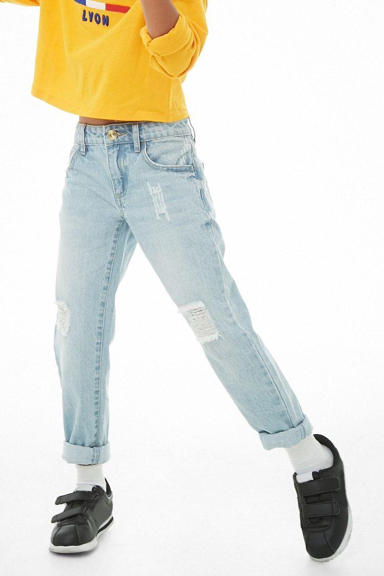 Girls Distressed Boyfriend Jeans (Kids)   Toddler fashion