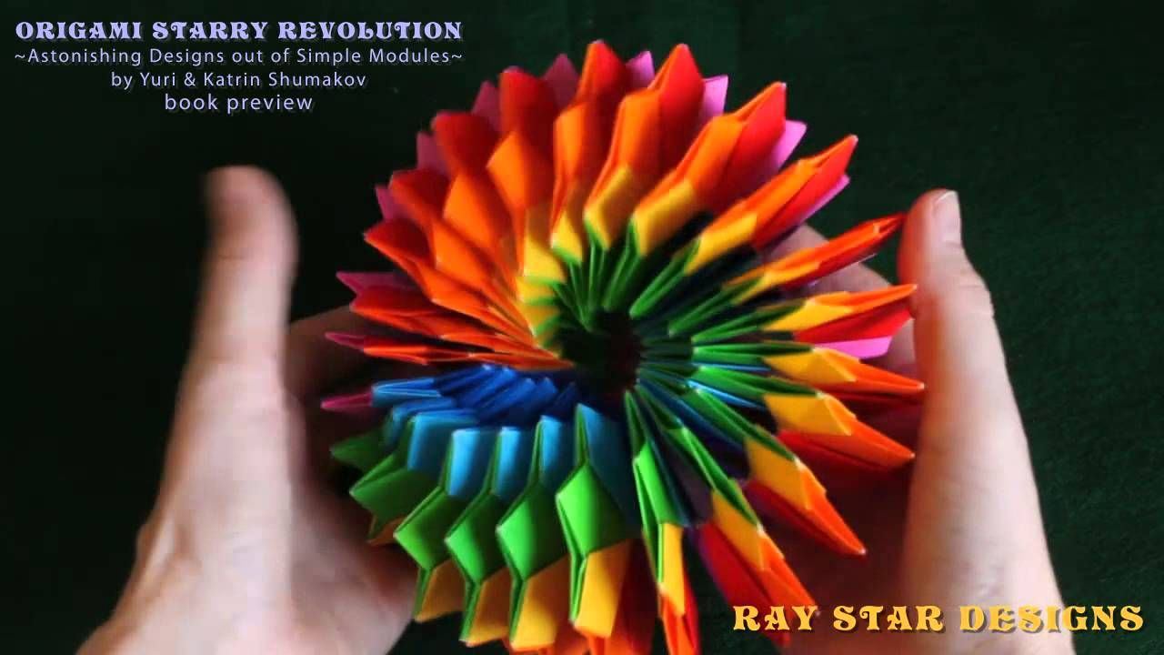 Origami Starry Revolution Book Preview Geometric Origami Origami Origami And Kirigami