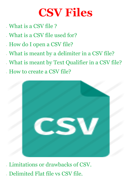 CSV file - How to open?, Why it is used?, Drawbacks, Vs