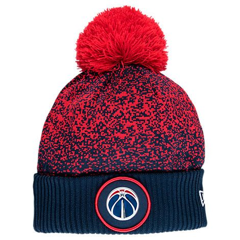 f4d3223e3 NEW ERA NEW ERA WASHINGTON WIZARDS NBA ON COURT COLLECTION POM KNIT HAT.   newera