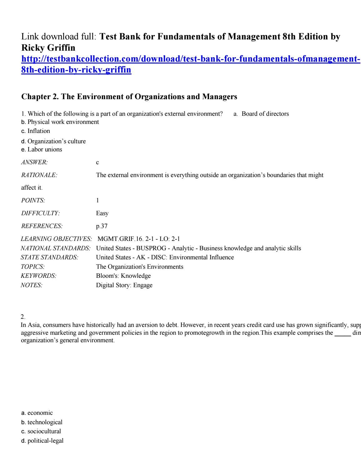 Pin On Test Bank For Fundamentals Of Management 8th Edition By Ricky Griffin