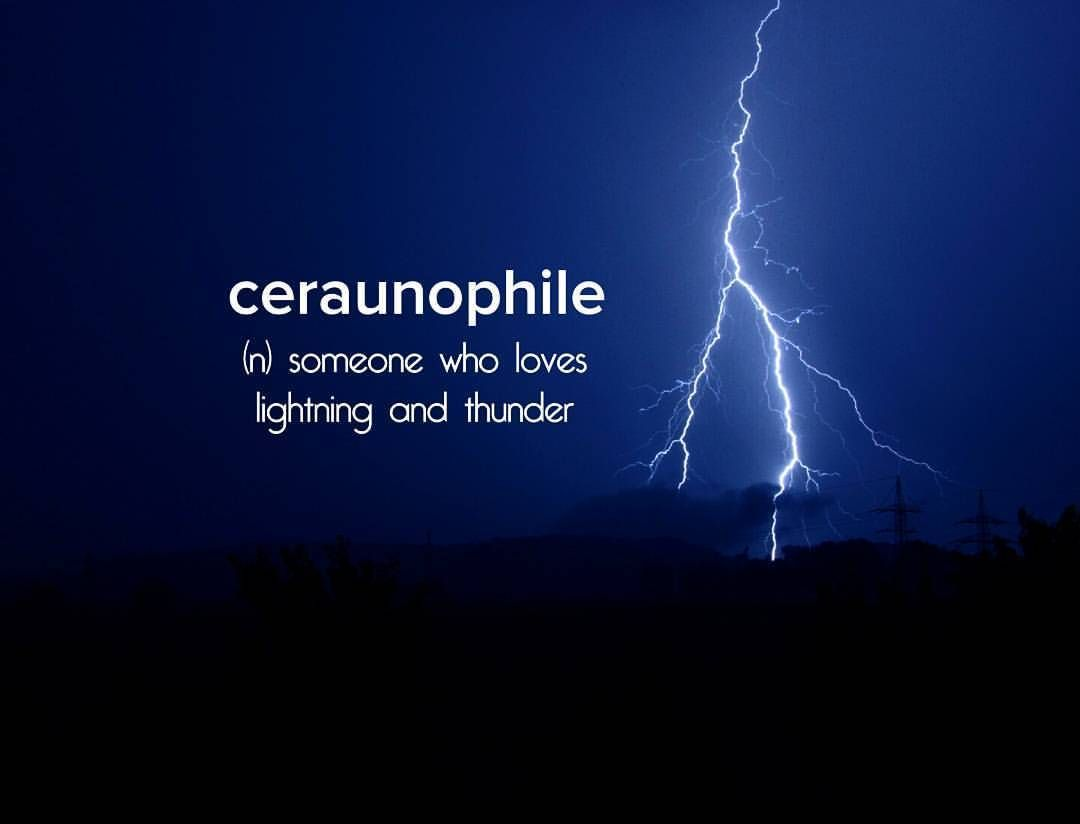 Ceraunophile N Someone Who Loves Lightning And Thunder With