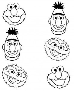 Sesame Street Characters Faces Coloring Pages Sesame Street Coloring Pages Sesame Street Crafts Birthday Coloring Pages