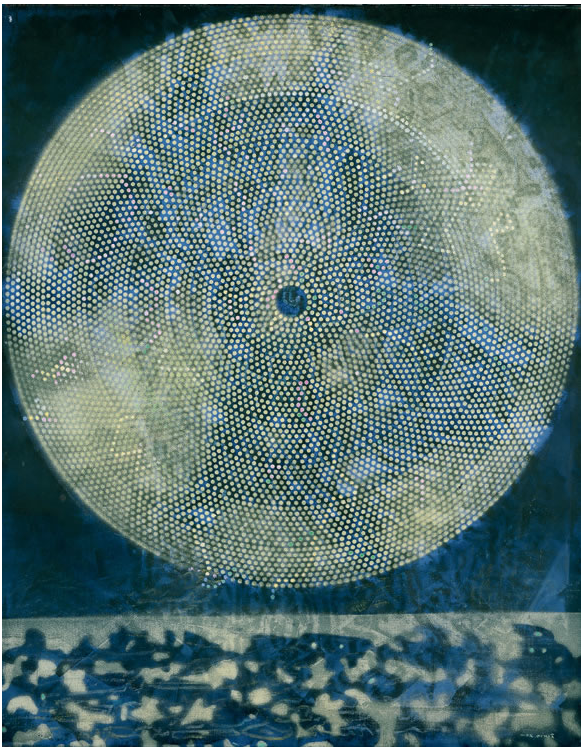 Painting by Max Ernst (1891-1976), 1969, Birth of a Galaxy, oil on canvas.