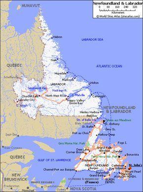 Old Newfoundland Maps By Newfoundlandws Dwyer Pinterest - Newfoundland and labrador map