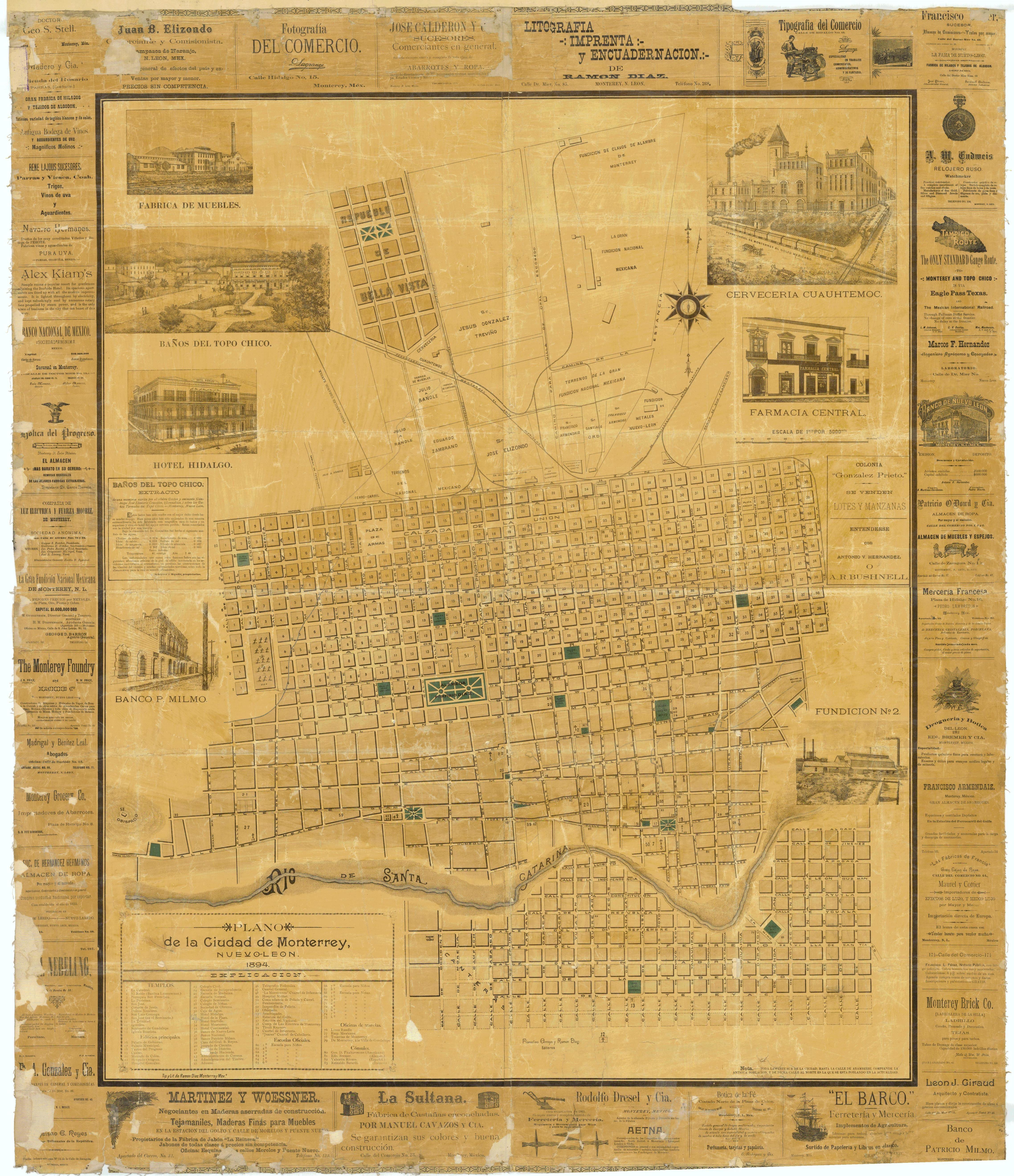 Mapa de Monterrey antes de 1966 | Monterrey, México ... |Old Monterrey Mexico Map