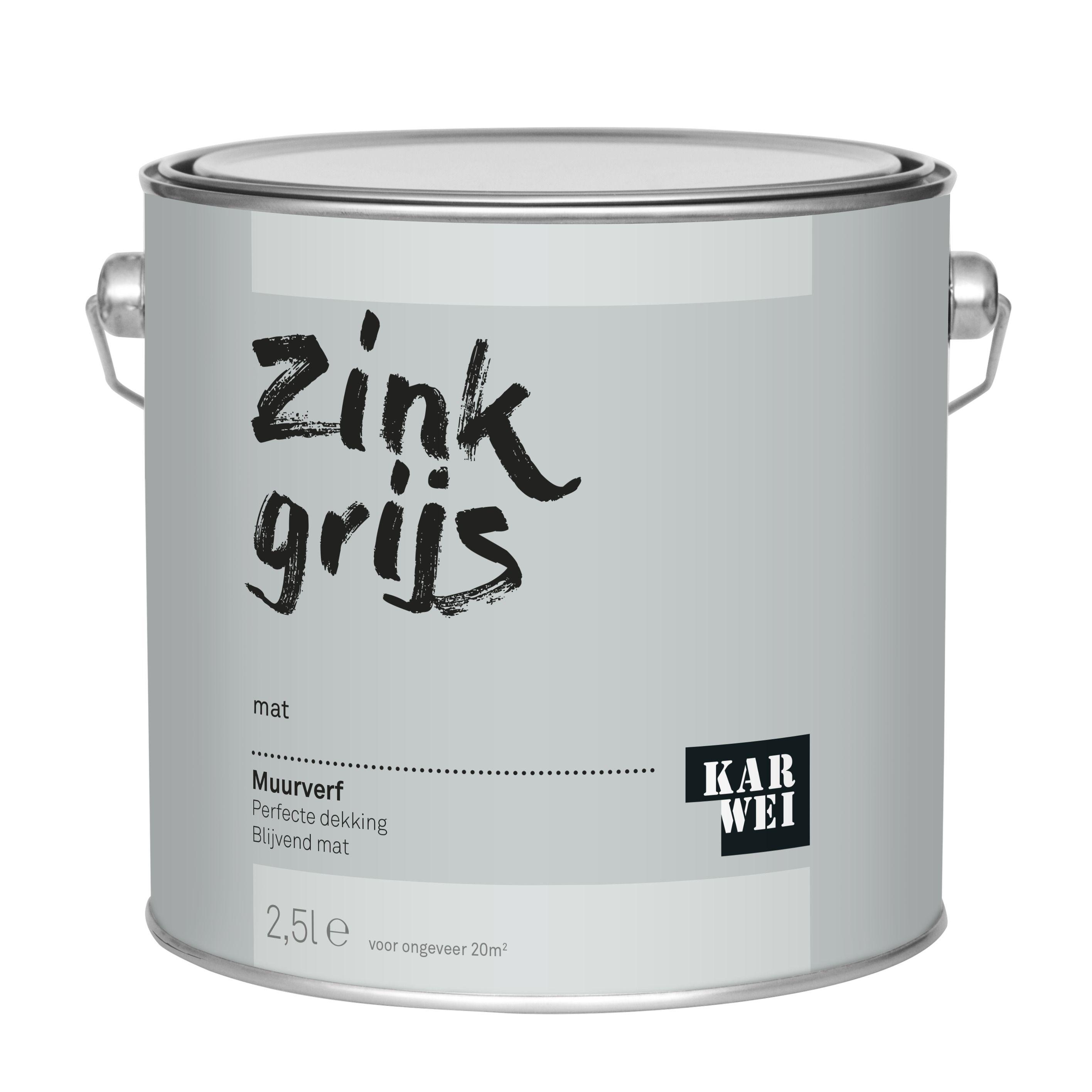 KARWEI muurverf zink grijs mat 2,5 liter kopen? muurverf