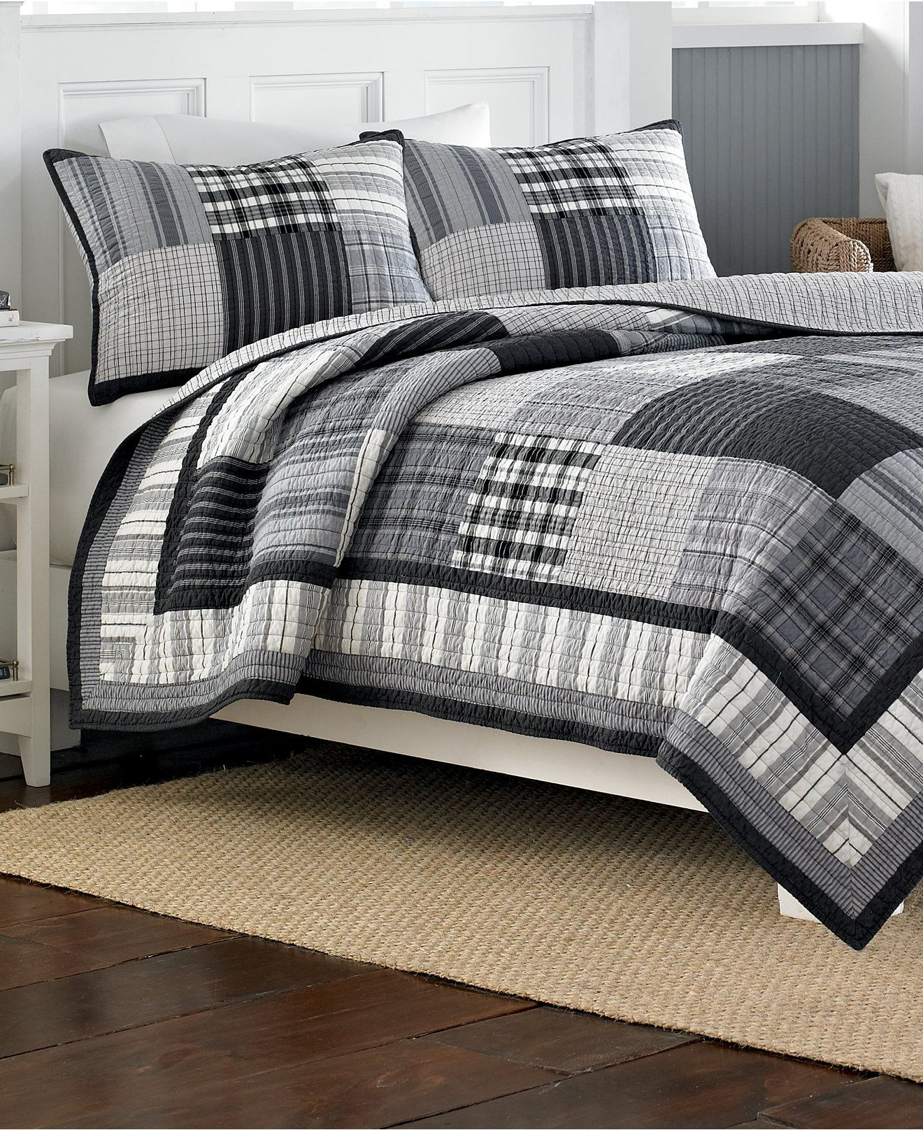 Nautica Gunston Twin Quilt - Bedding Collections - Bed & Bath ...