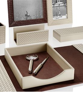 office decorative accessories. Riviere-desk-set-woven-office-decorative-accessory-leather- Office Decorative Accessories O