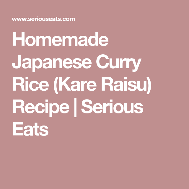 Homemade Japanese Curry Rice Kare Raisu Recipe Recipe Curry Kare Raisu Recipe Japanese Curry