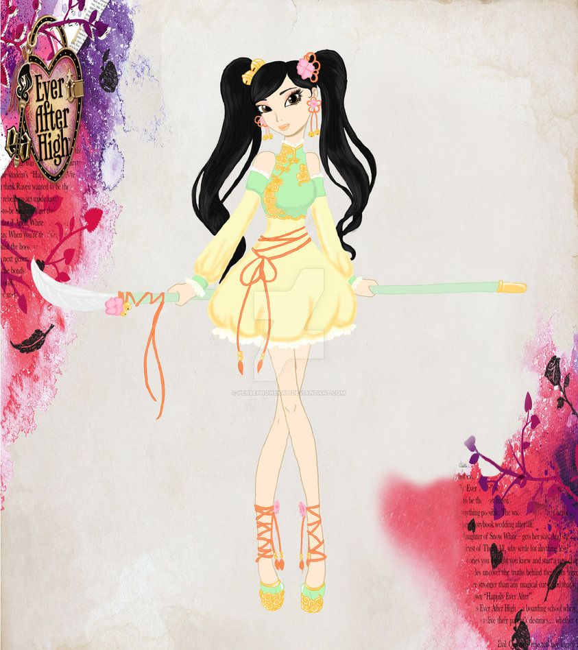 c2f04884c0ec Meiling Fa- Daughter of Mulan by PersephoneKat | ever after high