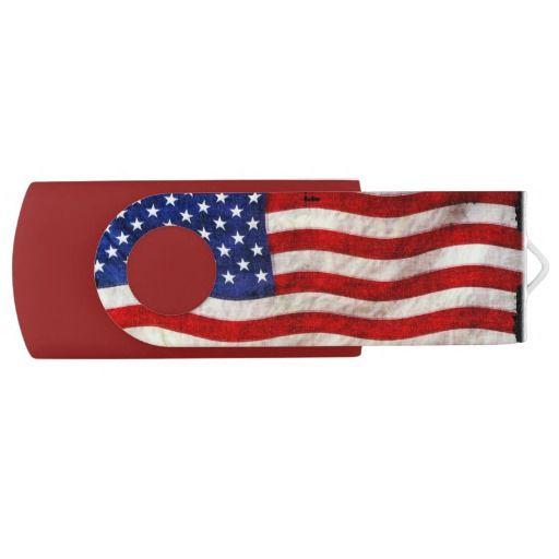 USA American Flag Designer Flash Drive | Zazzle com | Patriotic