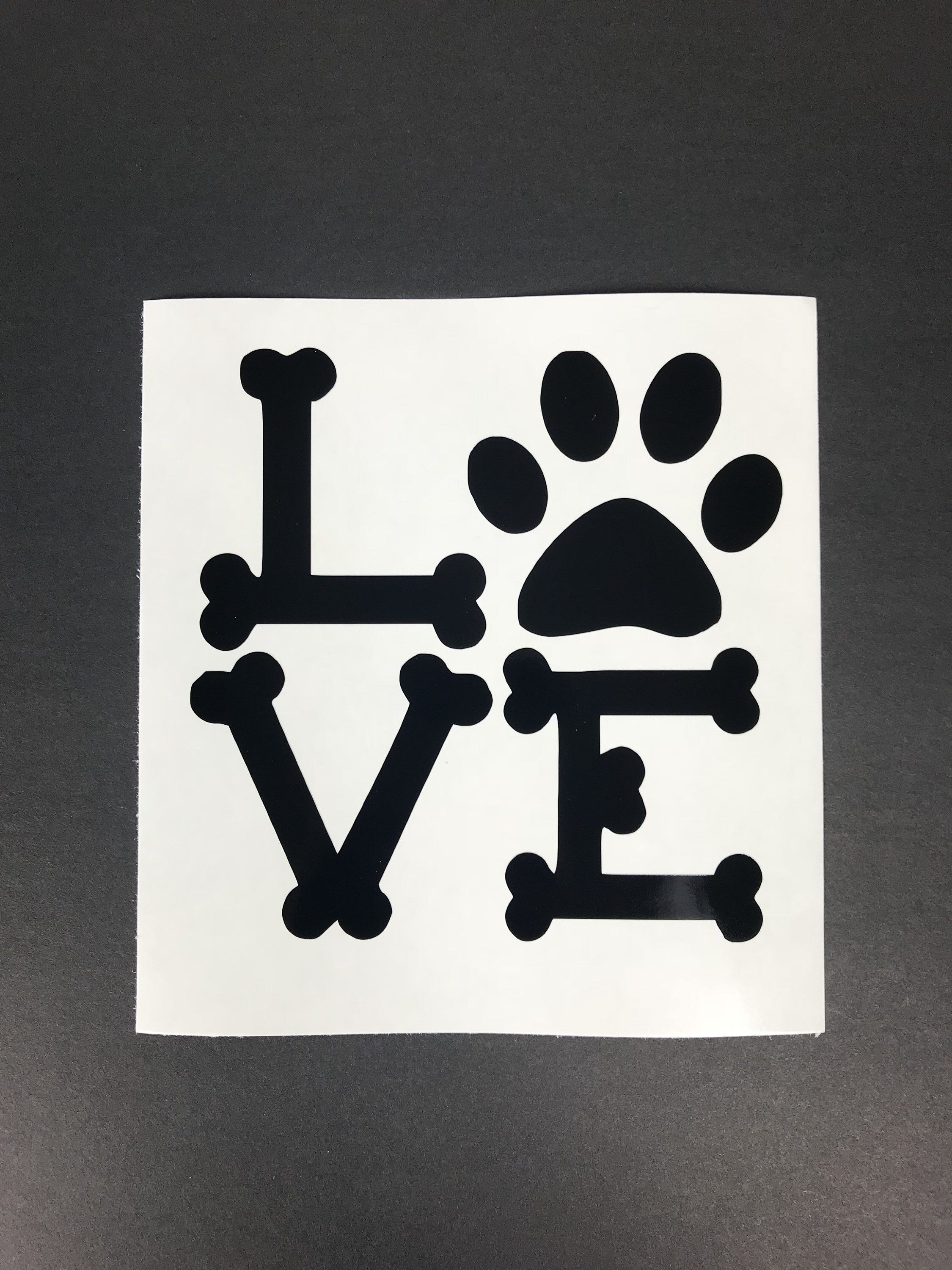 Excited to share the latest addition to my etsy shop pet love car decal love car decal car decals vinyl car decal dog car decal window sticker