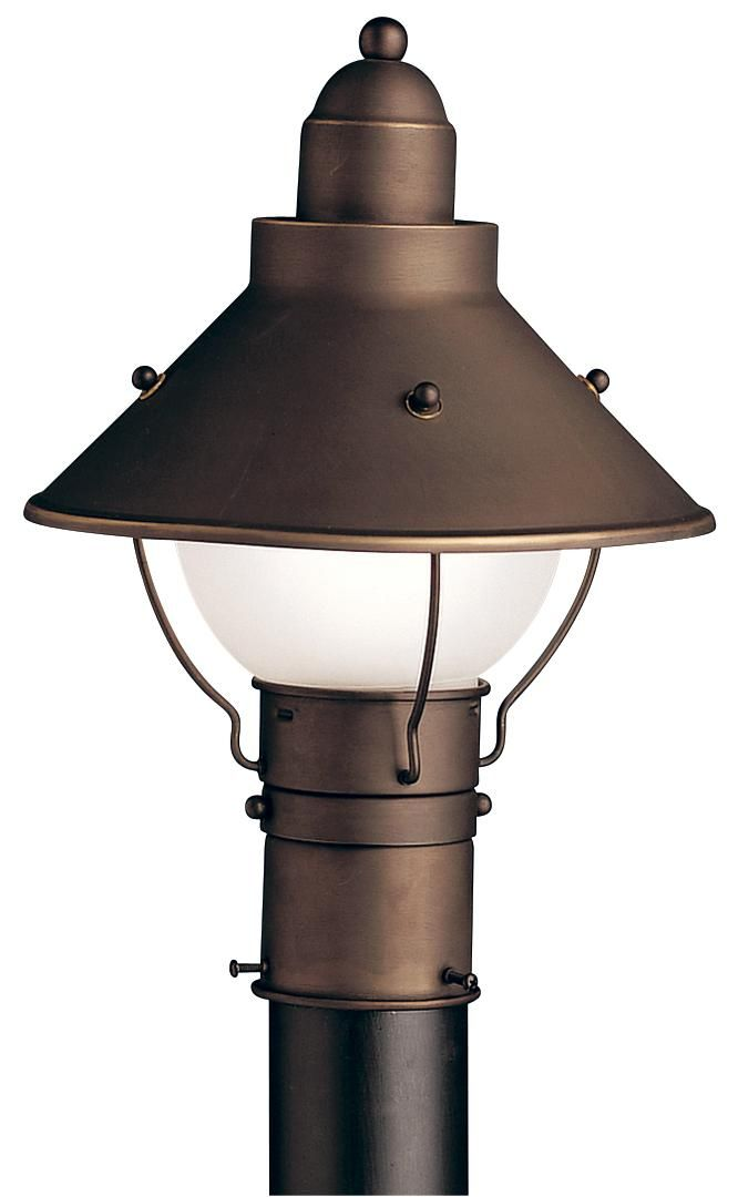 Kichler olde bronze 14 12 high outdoor post light deck kichler olde bronze 14 12 high outdoor post light aloadofball Gallery
