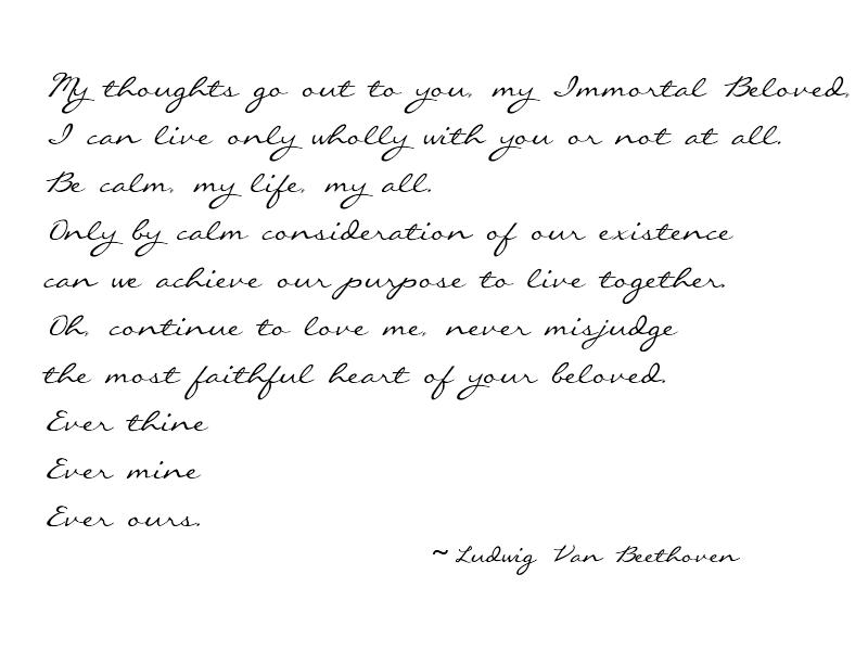 Beethoven love poem ever mine
