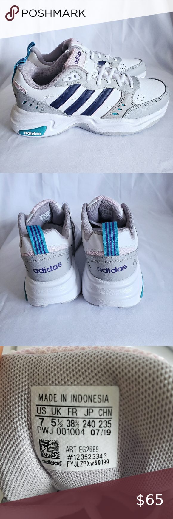 New Adidas Strutter shoes Size 7 Sneakers features a leather upper ...