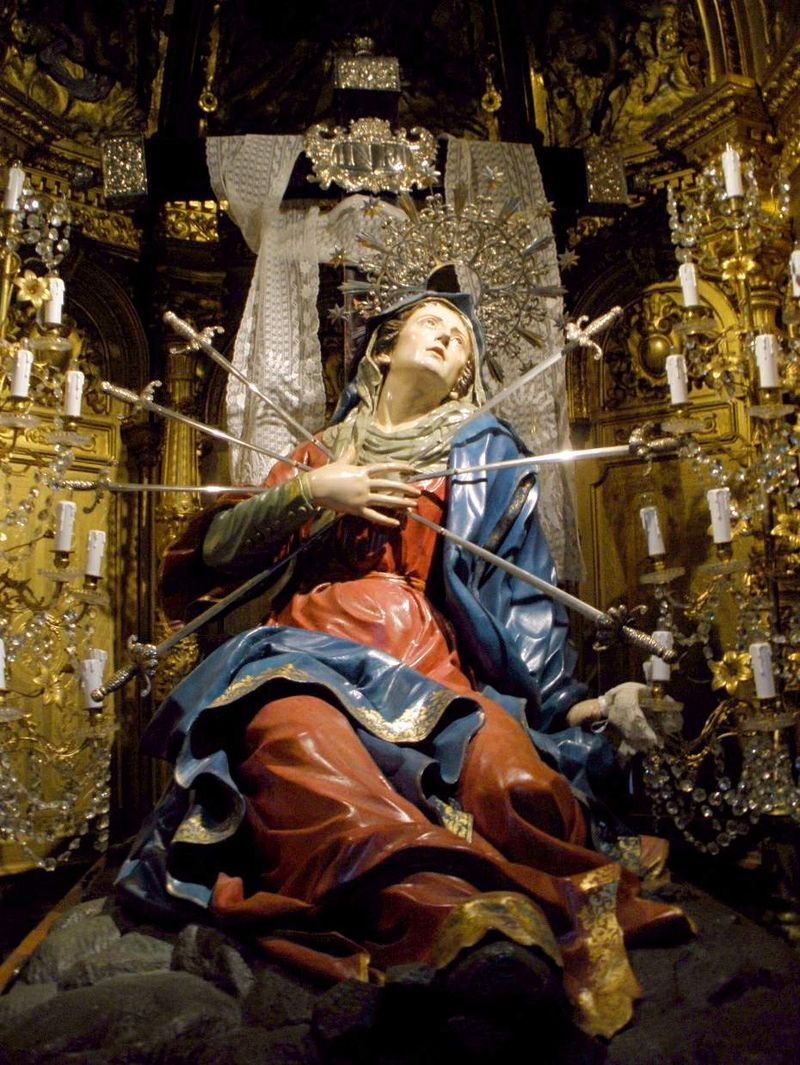 Seven swords piercing the sorrowful heart of mary in the - Piercing salamanca ...
