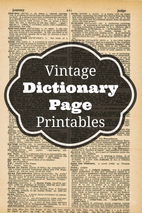 Vintage dictionary page printables vintage free for Forward dictionary