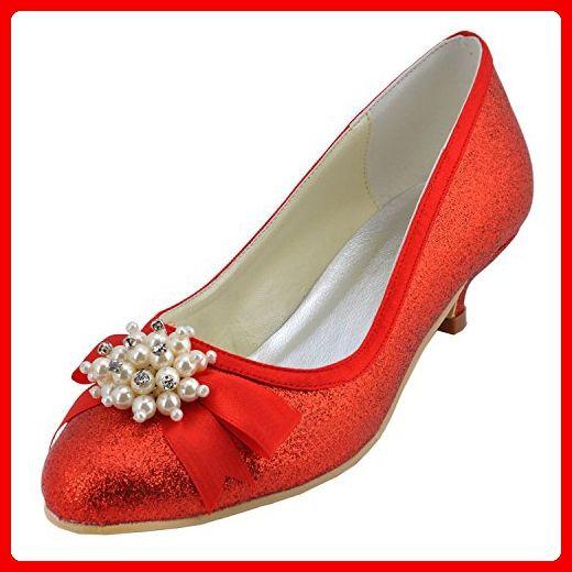 Kevin Fashion , Damen Modische Hochzeitsschuhe , Rot - rot - Größe: 42 -  Damen