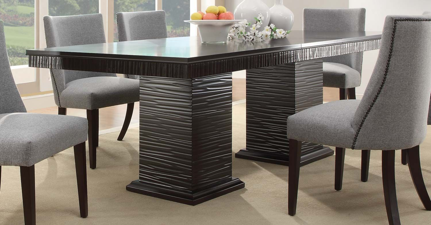 Design Elements From Traditional To Midcentury Modern Are Amusing Espresso Dining Room Table Sets Inspiration Design