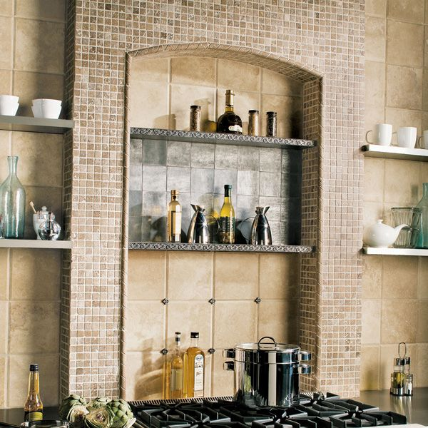 Love This Kitchen Niche With Shelves Tile Is Called Massallia Daltile