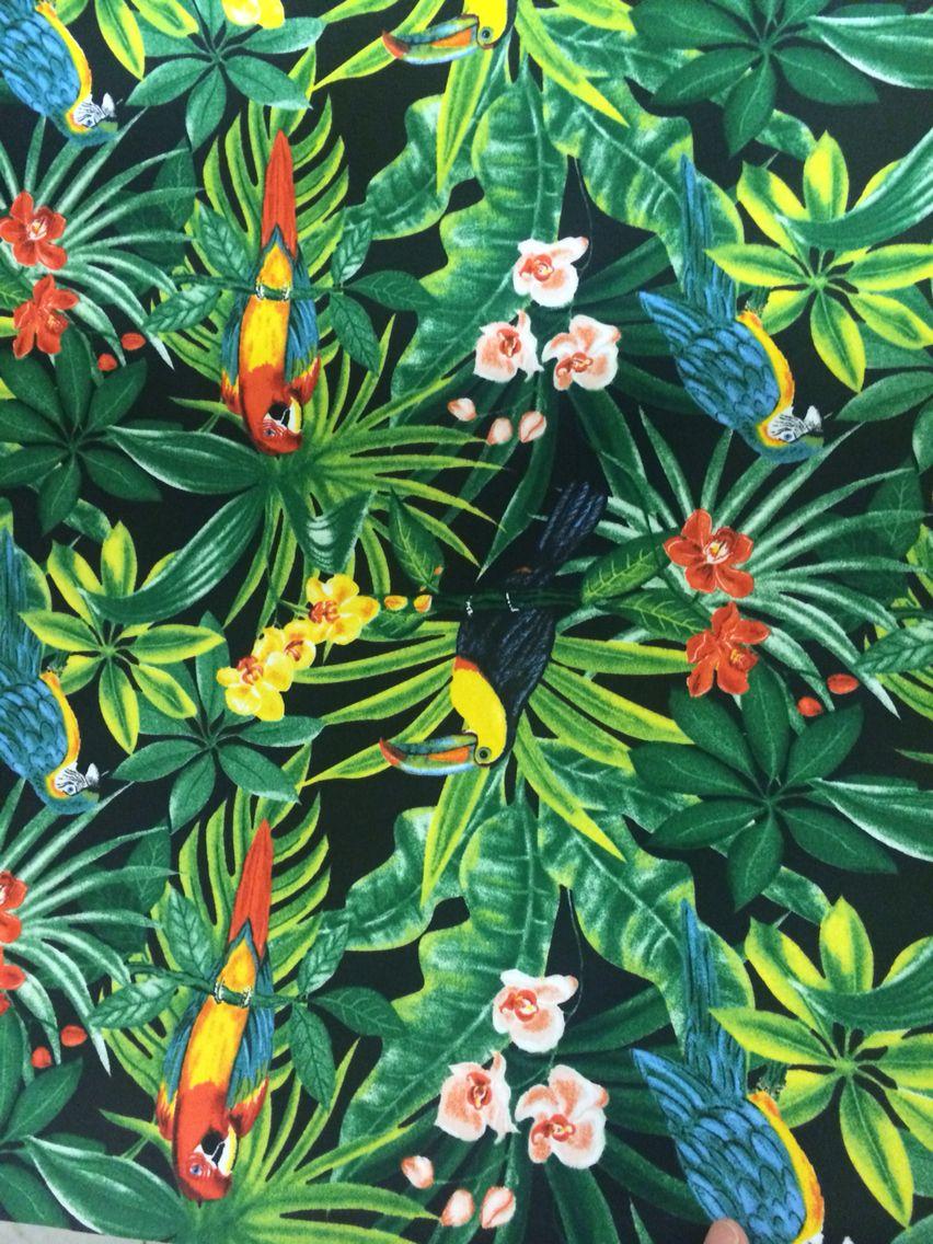 tropicool perroquet jungle ambiance patterns fabrics art tropical pinterest. Black Bedroom Furniture Sets. Home Design Ideas