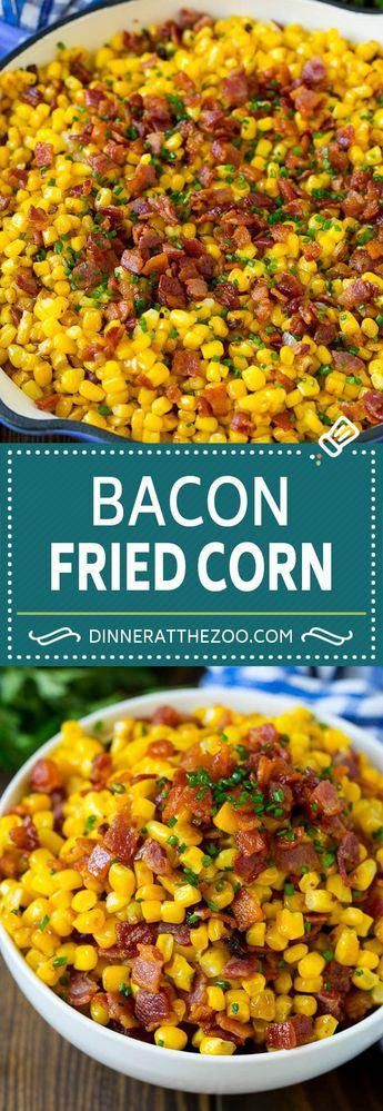 Fried Corn with Bacon - Dinner at the Zoo