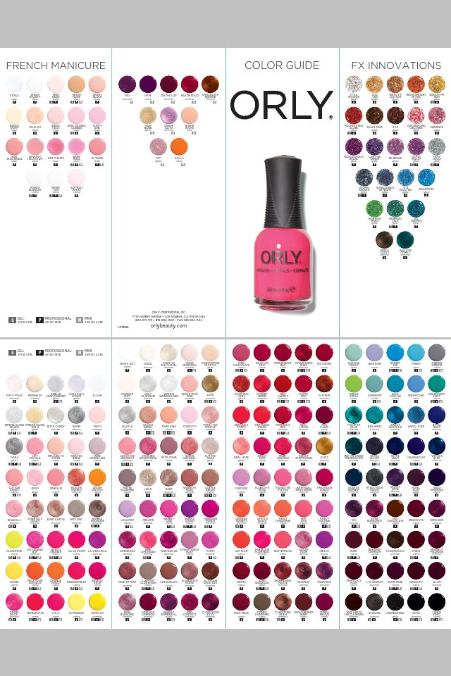 Orly color chart nails pinterest colour chart chart and orly color chart prinsesfo Image collections