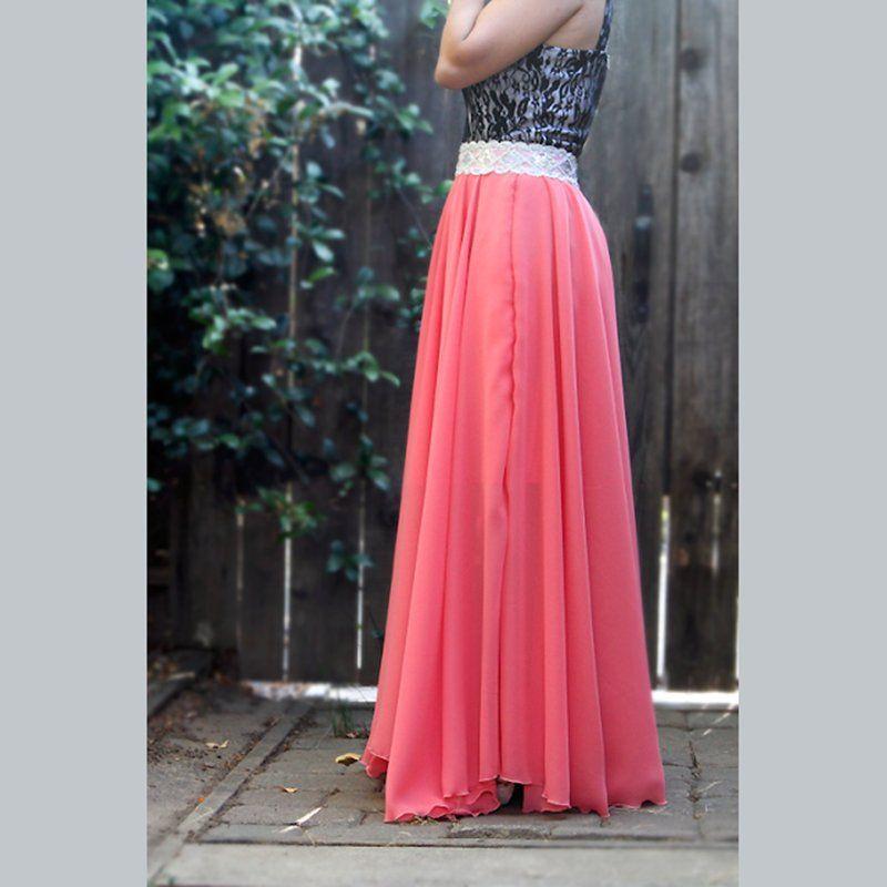 0961ebfd3d4c54 Une jupe en mousseline | Nápady/Sewing | Diy jupe longue, Tuto ...