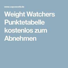 weight watchers punktetabelle kostenlos zum abnehmen ww. Black Bedroom Furniture Sets. Home Design Ideas
