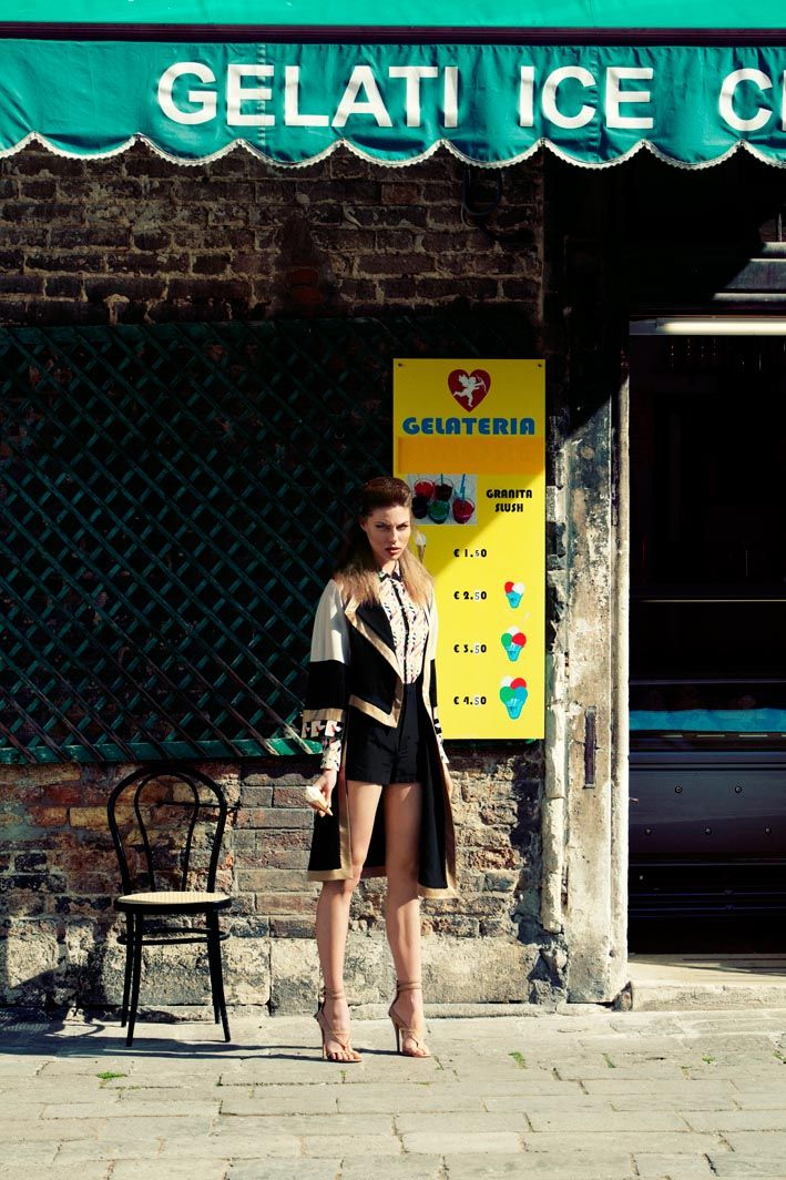 """The italian job"" Photographer: Santiago Ruisenor Fashion editor: Pamela Ocampo  Makeup artist: Giovanni Lovine Magazine: Elle Mexico (May 2012) Model: Viktorija"
