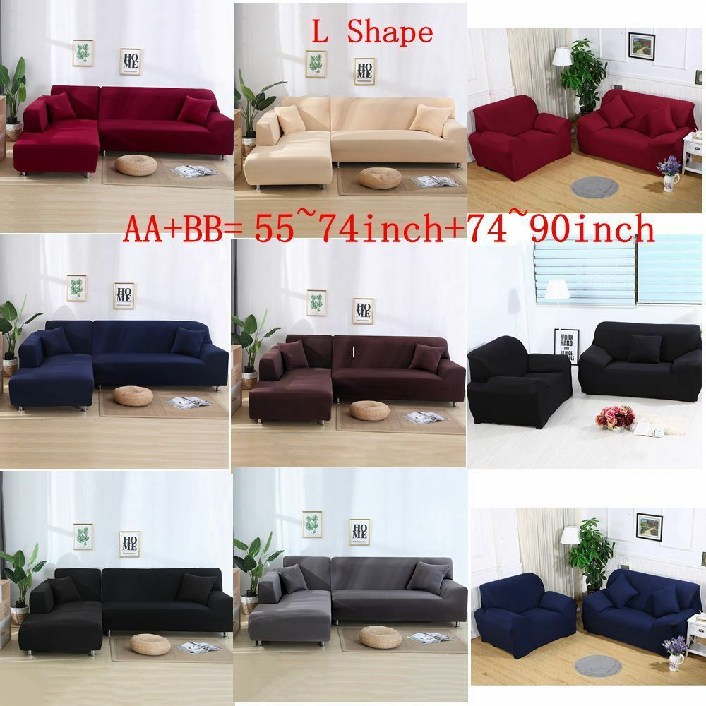 All Cover L Shape 23 Seat Stretch Elastic Fabric Sofa Cover Couch Cover Sofa Slipcover Ideas Of Sofa Slipcover Sofasli Fabric Sofa Cover Slipcovered Sofa