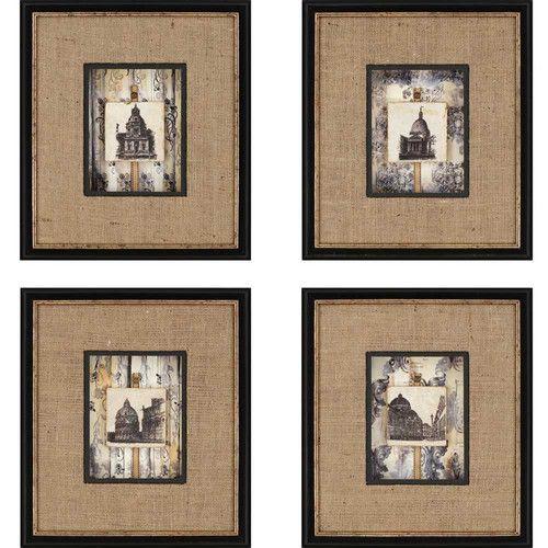 Paragon Dome Tiles 4 Piece Framed Graphic Art Set   Artwork   Pinterest