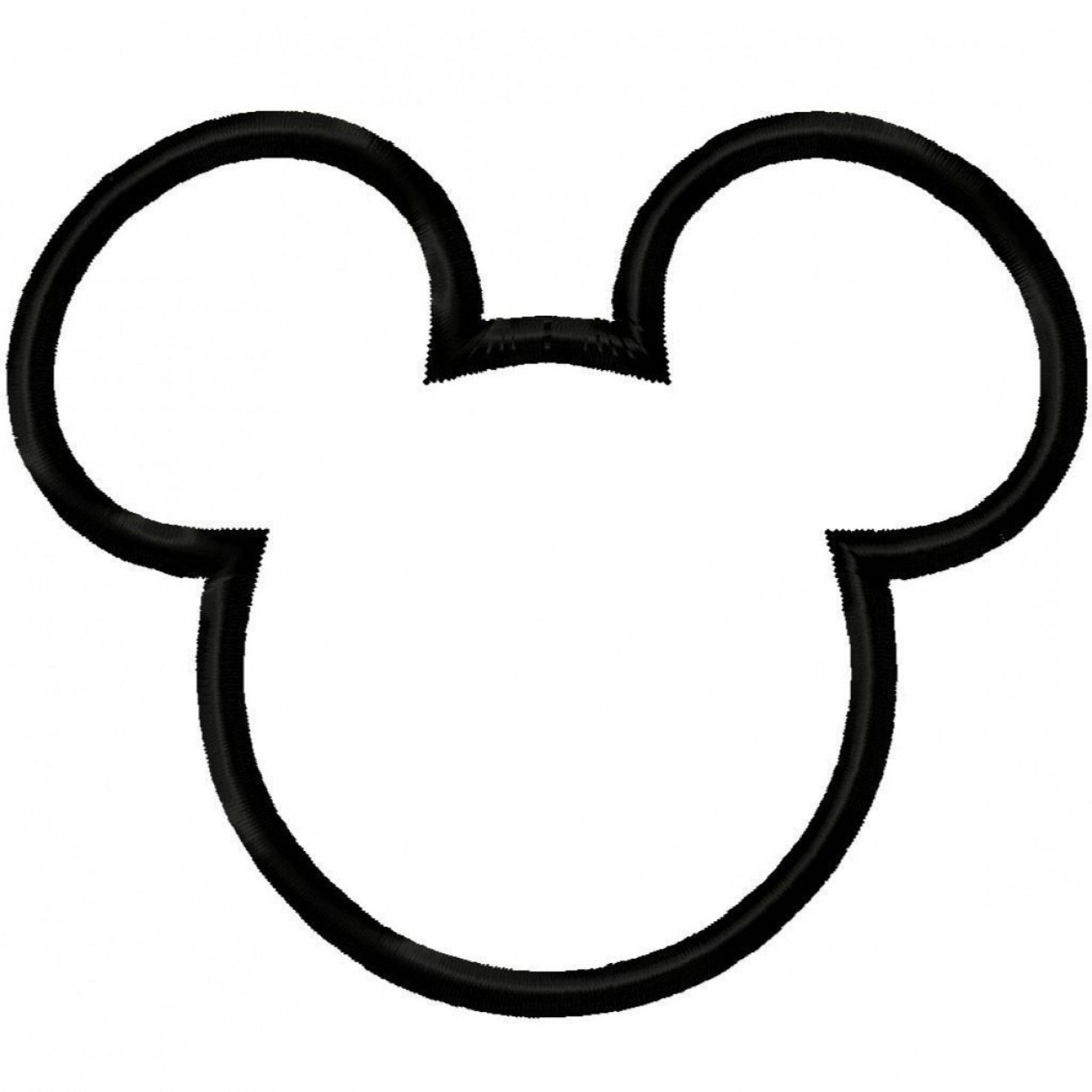 Mickey mouse head white. Vector ears clipart black