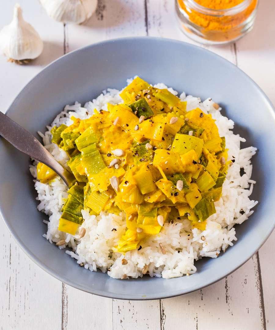 Fondue de Poireaux au Curry | Vegan, 3 Ingrédients – Blooming Nolwenn