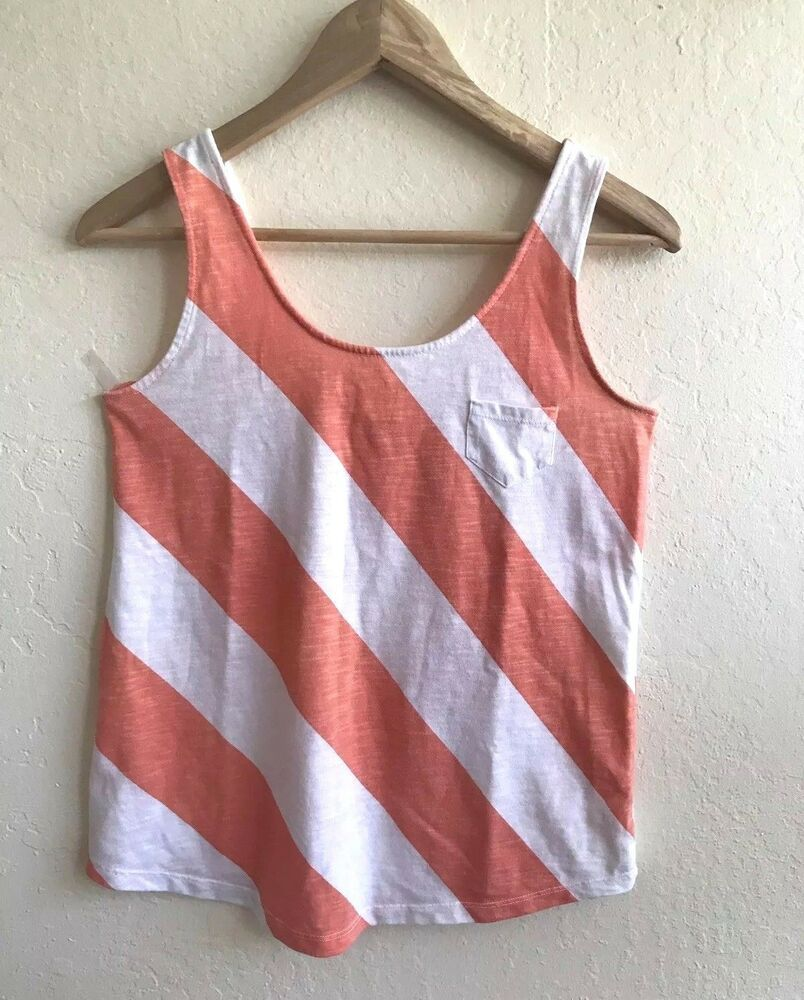 Bnwt Women/'s French Connection Sleeveless Striped T Shirt Stretch Vest Tank Top