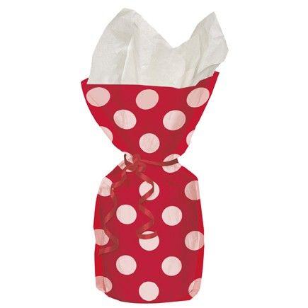 Red Polka Dot Cello Bags Polka Dot Party Supplies $3.00