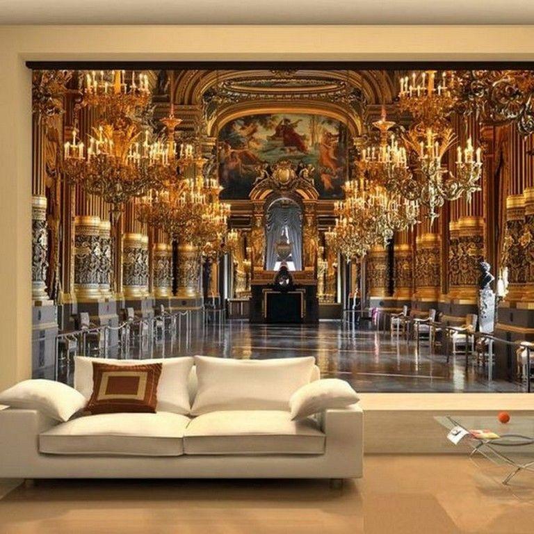 22+ Amazing 3D Wall Mural Design Ideas Living Room
