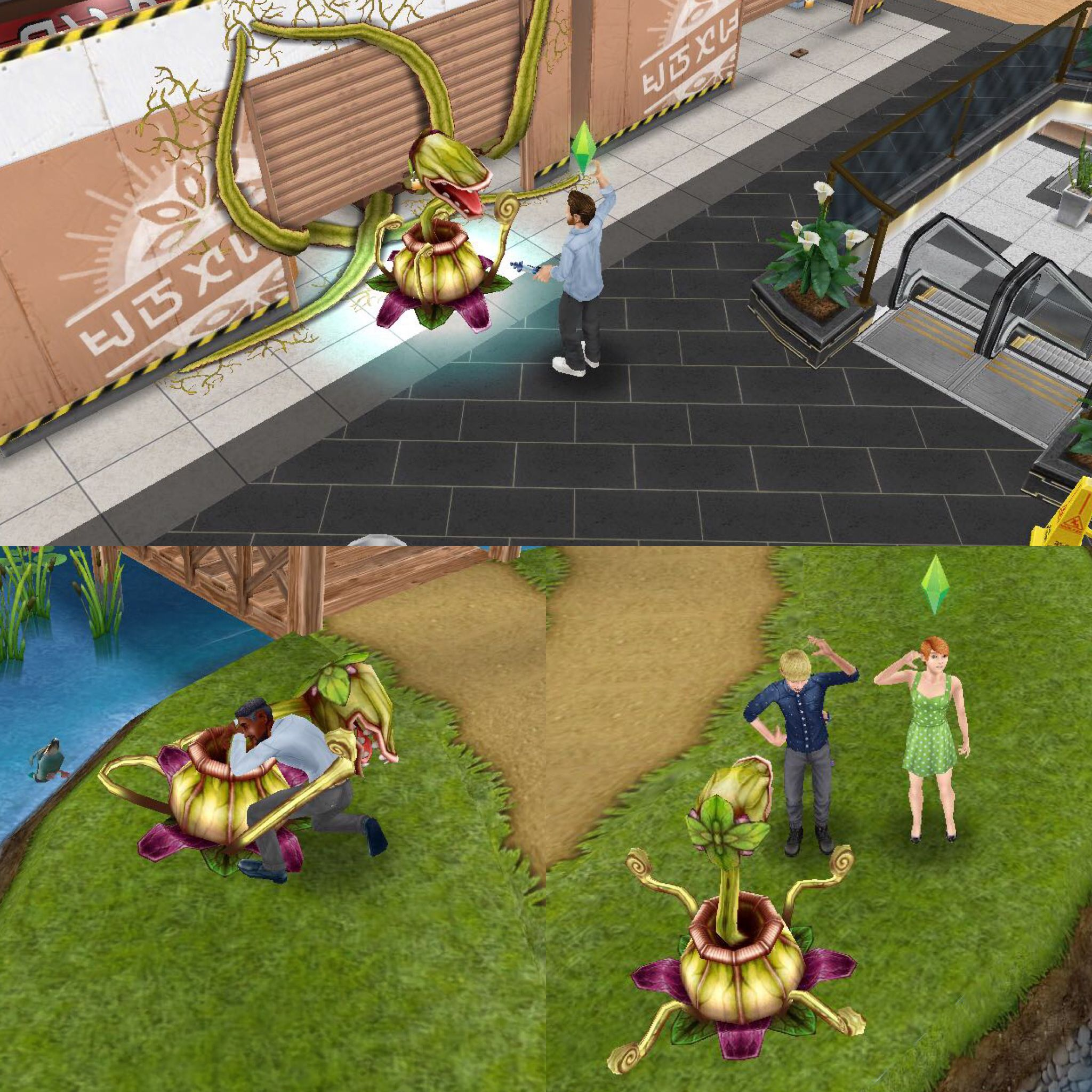 Pretty Little Planters Quest Is A Quest That Unlocks The Childrens Playground In The Sunset Mall Second Floor How F Singing Sims Free Play Breathe In The Air