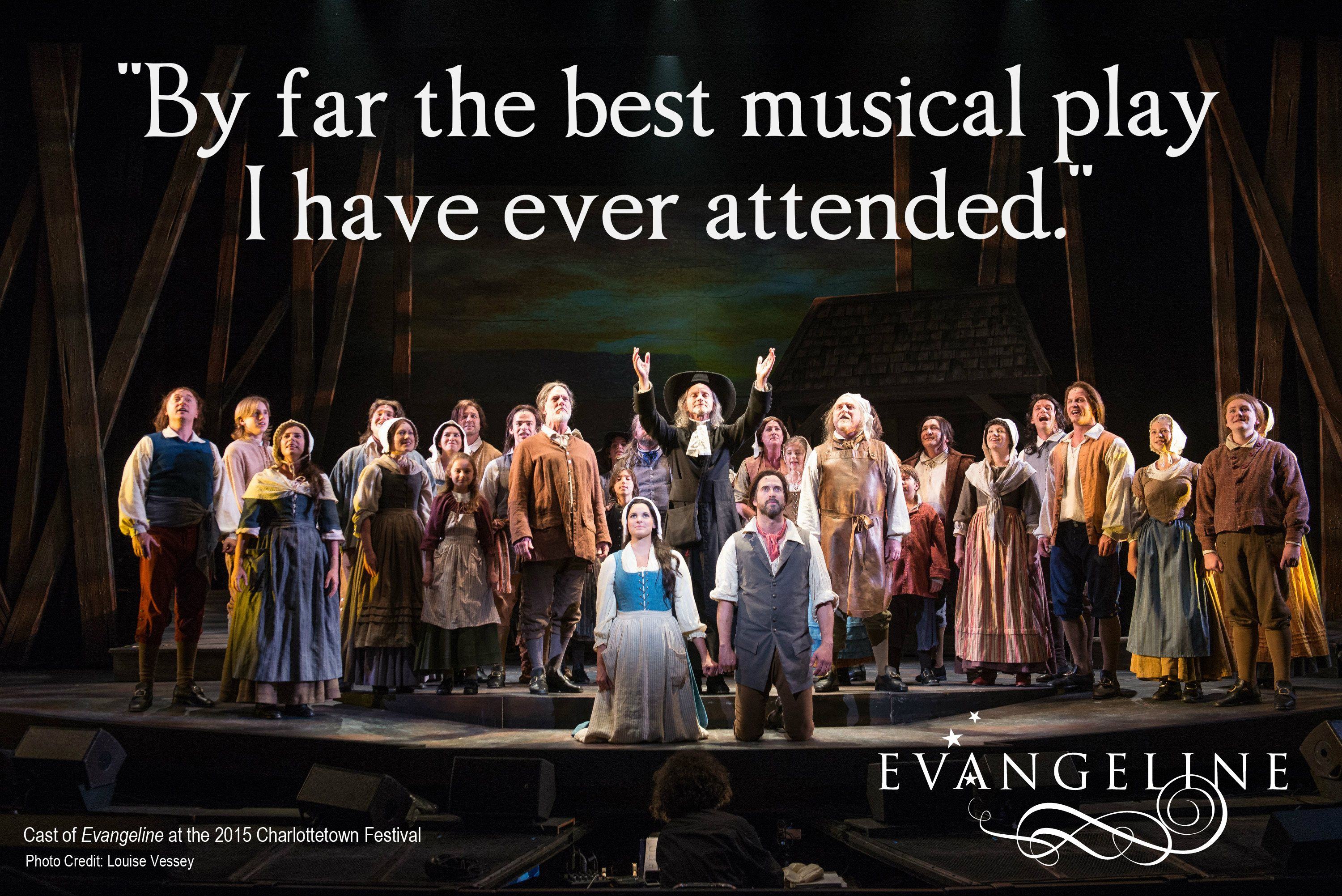 """From the Confederation Centre's """"Let Us Know"""" surveys.  The cast of Evangeline at the 2015 Charlottetown festival."""