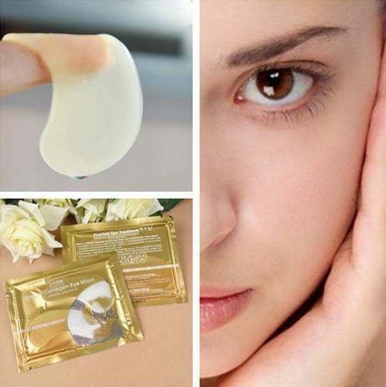 10 stücke = 5 satz = 5 para hot verkauf pilaten kristall collagen augenmaske aufkleber anti-aging anti-schwellungen augenringe moisturizing