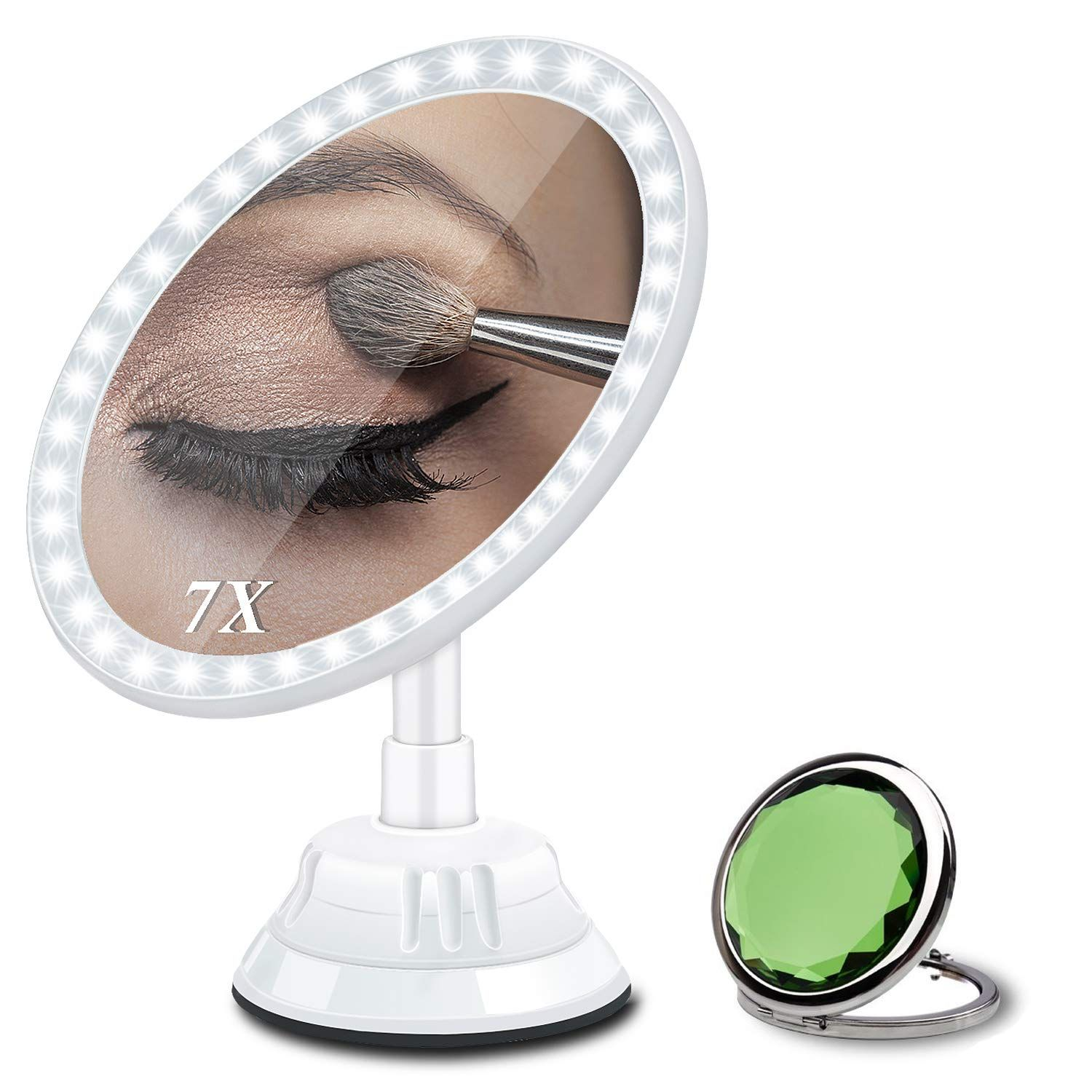 Magnifying Makeup Vanity Mirror with Light, 7X