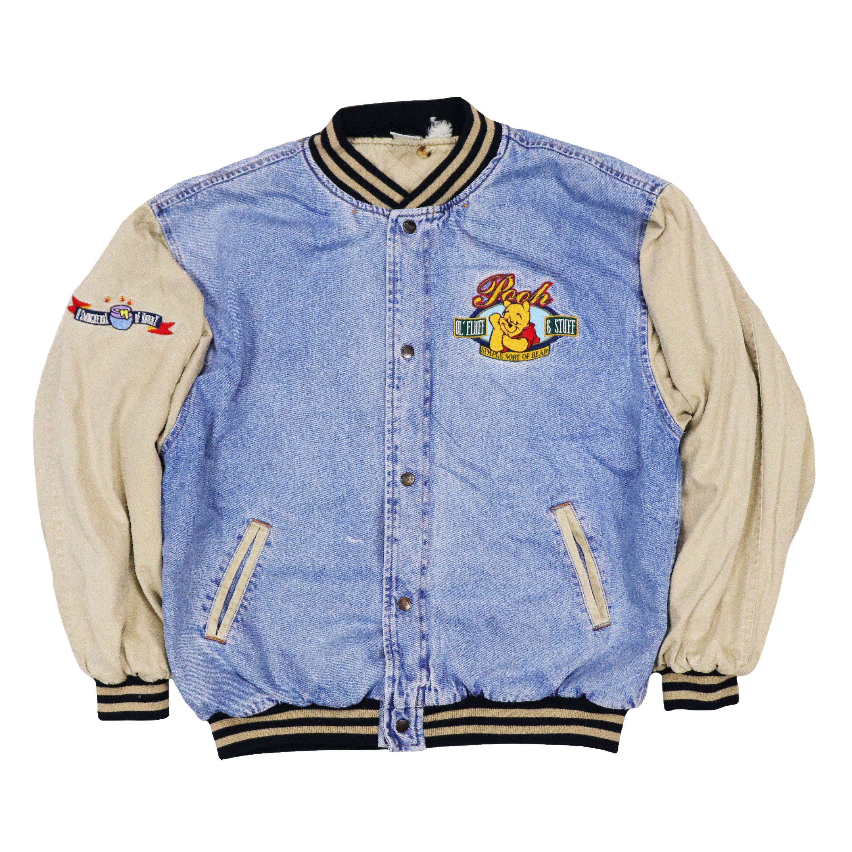 Vintage The Disney Store Winnie The Pooh Varsity Jean Denim Etsy Denim Coat Jacket Jackets Denim [ 3000 x 3000 Pixel ]